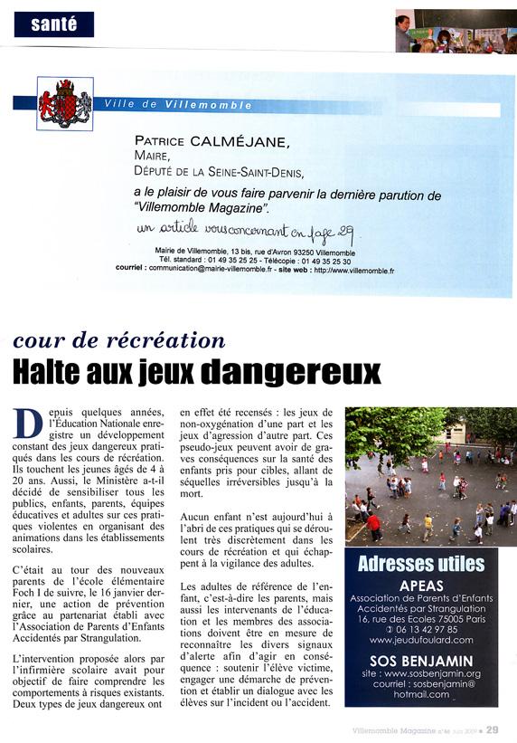 2009 juin Villemomble magazine page 29